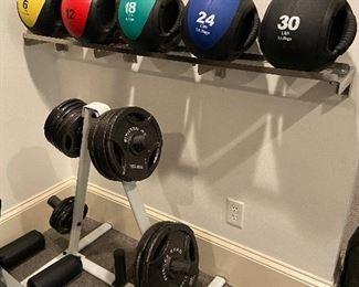 Medicine Ball Weight Balls, Shelf NFS Bar & Fitness Gear Weight Plates