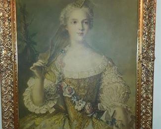 Lovely portrait in gold-leaf frame