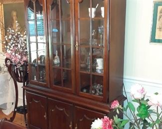 China cabinet, lighted