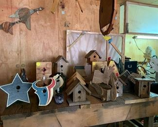 We have 30+ birdhouses all custom made