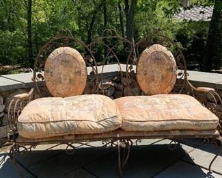 Vintage 6 piece wrought iron patio set