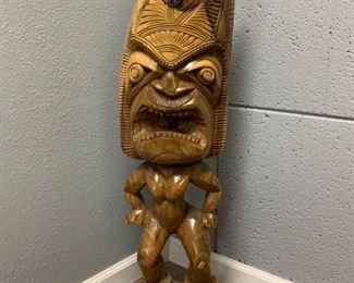 Dl020 Hawaiian Wood Mana Tiki