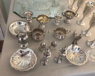 Several sterling silver pieces And silver plate