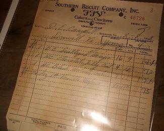 Original receipt from 1938!