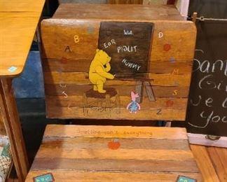 Winnie Pooh Antique school Desk $78