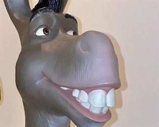 """Lot 8000.  $625.00 Shrek 2 Limited Edition character replica of Shrek 2 and Donkey on a metal base.  COA is numbered 23/1000.  Low  COA edition number!!! Shrek is 29"""" Tall the metal base is 24"""" x 16"""""""