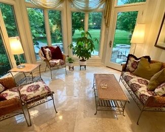 View of the Sunroom Furniture.  Gorgeous!!