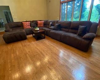 Beautiful brown fabric sectional 725.00