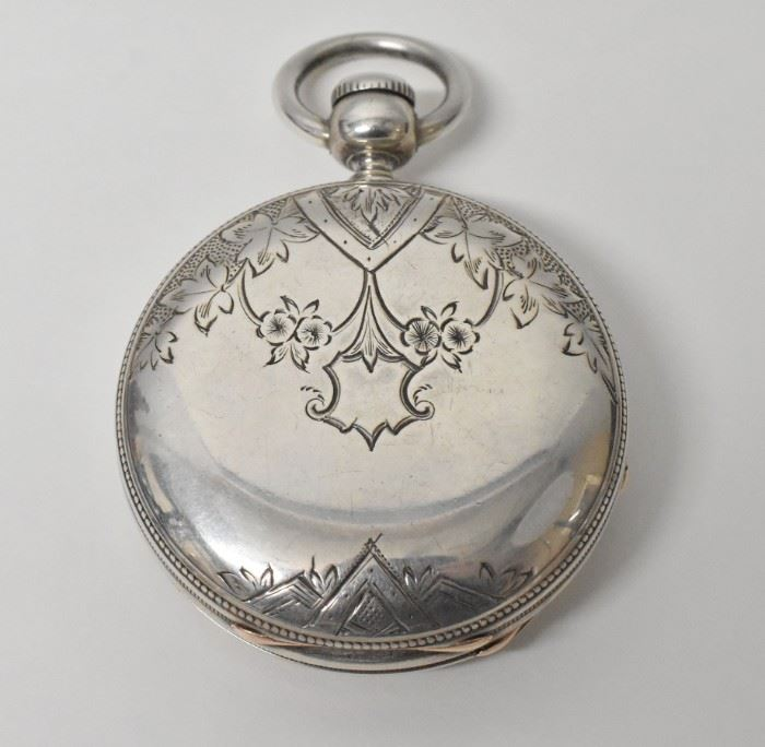 Waltham Wm Ellery KW Coin Silver