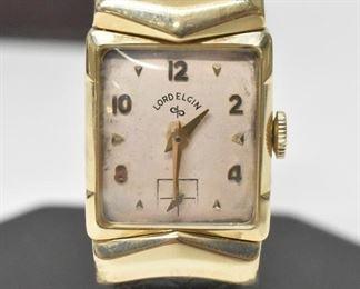 Lord Elgin Man's Wristwatch 14K