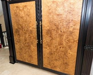 A Sub-Zero Side by Side Refrigerator Freezer with Burl Walnut Panels. Model Bi-36F and Bi-36R. Serial Numbers F4381522 and F4279082. Condition: Good with wear commensurate to age and use.    $10,000.00