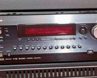 An Integra DTR 50.7 Home Theatre Receiver. No Date. No Serial Number Available. Condition: Very Good. Functional.$300.00