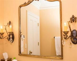 Image of sconce pair. Mirror omitted.
