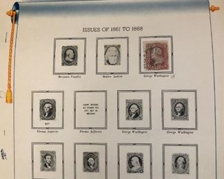 American cancelled and hinged and mint hinged stamps incluuding commemoratives 1847-1952. Also airmails back of the book and others see following images. The American collection with following Minkus Global album.                                                                           $1,000 for all collections