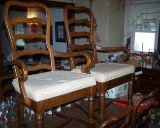 THE HOST CHAIRS FROM THE OAK DINING SET