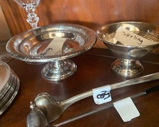 Sterling footed Dishes
