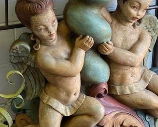 Cherub resin large statue
