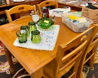 Maple table and chairs  $50 set