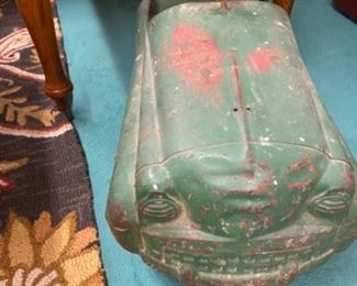 Vintage green peddle car $125