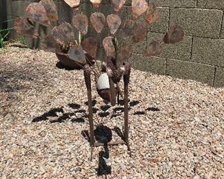 peacock yard art