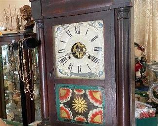 Seth Thomas antique reverse painted clock