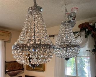 Matching chandeliers.