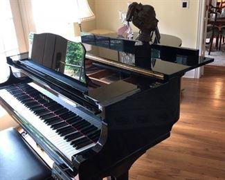"11. Yamaha Polished Ebony Baby Grand Player Piano GC1 serial no. 6050846 (5'3"")"