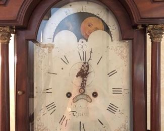 """23. Antique Grandfather Clock (19"""" x 10"""" x 92"""") (as is)"""