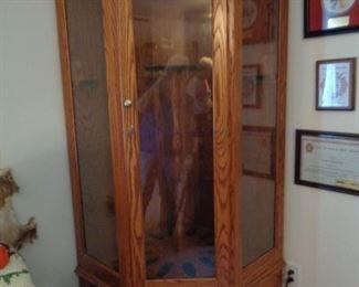 Beautiful wood and glass gun case