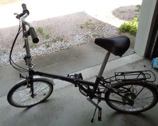 two Dahon foldable bikes