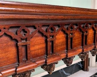 Detail of library/hall table