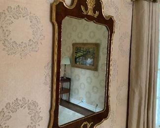 Many antique mirrors