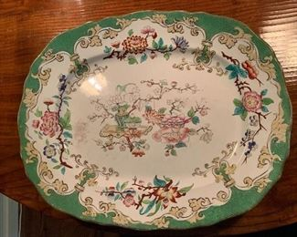 Iron stone platter -many pieces of top shelf iron stone in beautiful colors