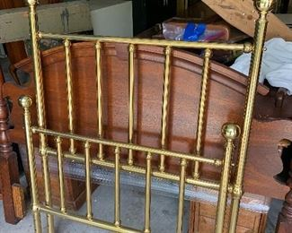 Pair of brass twin beds