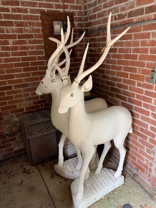 Pair of very large deer -Christmas decor!