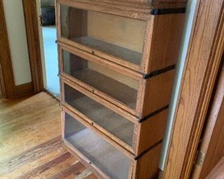 Barrister bookcase; one more section and an extra top