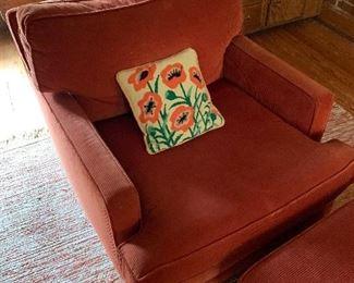 Pair of orange chairs