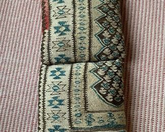 Pair of pillows made from rugs