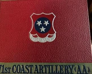 71st Coast Artillery 1941 yearbook