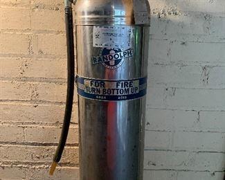 Vintage chrome fire extinquisher