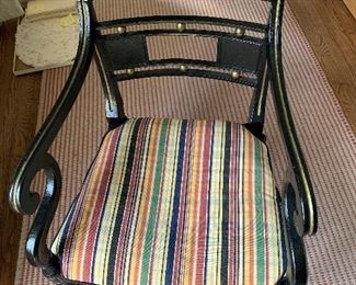 Black and gold 19th century chair