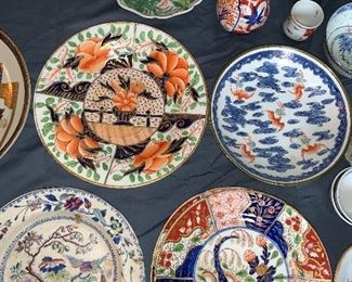 Ironstone transfer ware and Asia; top right -bats