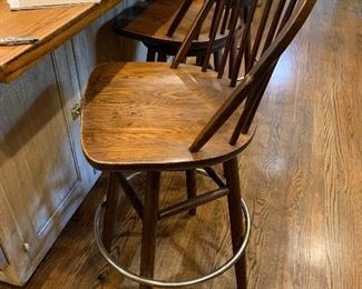 3 bar stools; two others of different style
