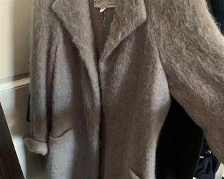 Vintage mohair woman's coat