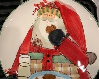Vietri platter -Santa and cookies -Nordstrom's