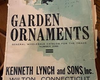 Important vintage 1966 Garden Ornaments catalog Kenneth Lynch and Sons, Wilton, Connecticut