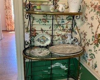 Brass and Iron baker's rack