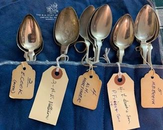 Over 60 19th century coin silver spoons