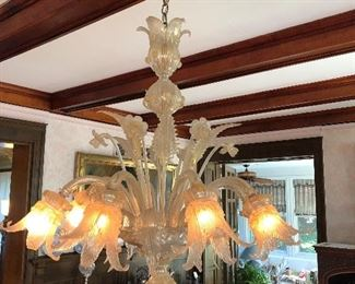 BUY IT NOW $3500.00 Fantastic Venetian Glass Chandelier. Picture does not do it justice. It is approximately 30 in wide. One piece at top has been repaired. -Must be removed and picked up after the sale is over.
