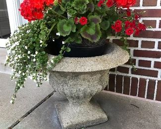 Beautiful concrete garden planters